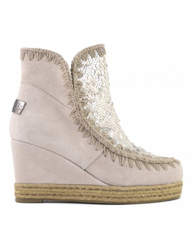 Mou Eskimo Jute wedge boots with sequins