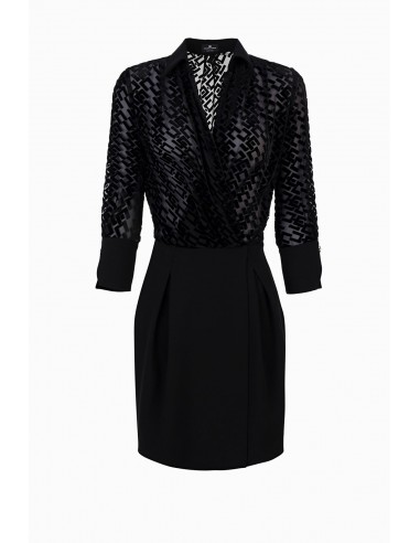 Vestido Elisabetta Franchi con logo burnout Comprar online