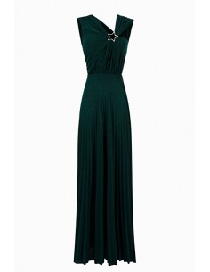 Elisabetta Franchi Long pleated dress with Star Buy online - ab91096e2