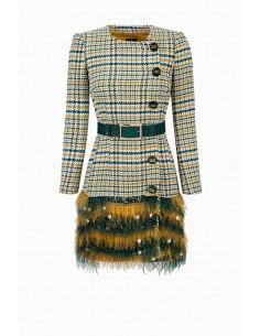 Elisabetta Franchi jurk met riem en borduurwerk Koop online - AB92096E2