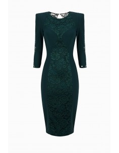 Elisabetta Franchi schede jurk met kant kopen online - AB93296E2