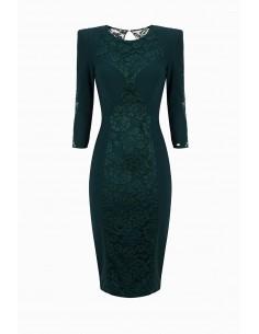 Elisabetta Franchi Sheath Dress with Lace Buy Online - AB93296E2