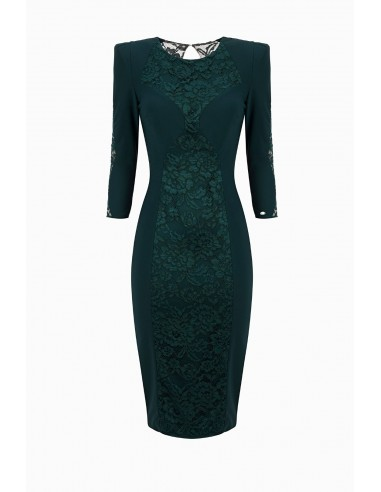 Elisabetta Franchi Sheath Dress with Lace Buy Online - AB93296E2