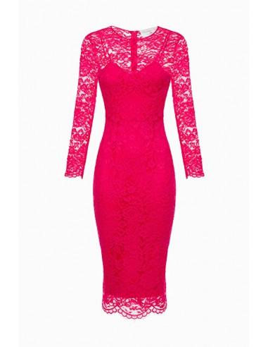 Elisabetta Franchi Midi-Kleid aus Spitze Online Kaufen - AB95996E2
