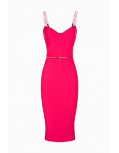 Elisabetta Franchi schede jurk met riem te kopen online - AB96496E2