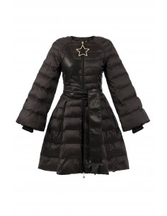 Quilted Coat Black with Belt - Elisabetta Franchi - pi14z76e2_110