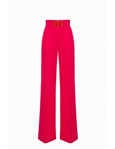 running shoes look good shoes sale new styles Elisabetta Franchi Palazzo-Pants with Logo Buy Online