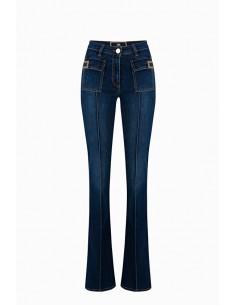 Elisabetta Franchi Jeans com logotipo Comprar Online - PJ44S96E2