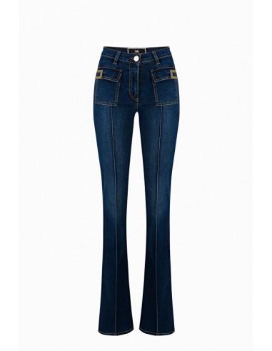 Elisabetta Franchi Jeans with Logo Buy Online - PJ44S96E2