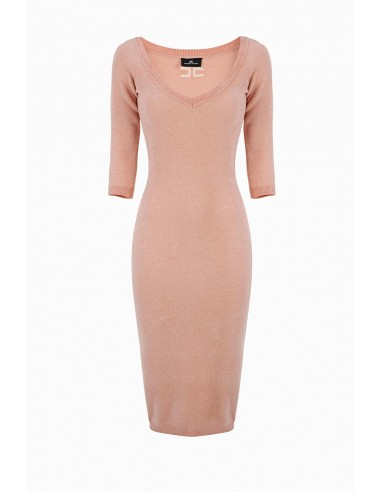 Elisabetta Franchi Midi Knitted Dress Buy Online - AM35S96E2