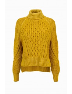 Elisabetta Franchi camisola tricotada com High Collar Comprar Online - MK56S96E2