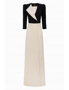 Elisabetta Franchi Vestido comprido bicolor - compre online