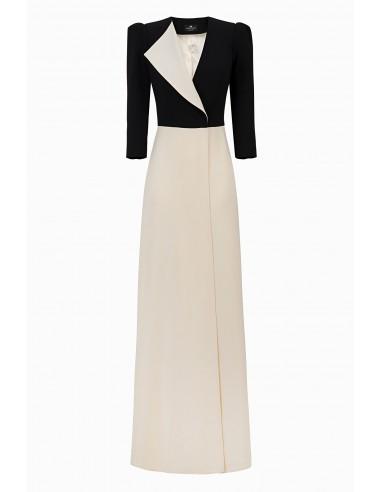 Elisabetta Franchi Two coloured long dress buy online
