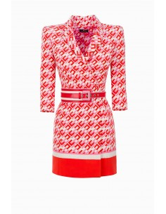 Elisabetta Franchi mini vestido com logomarca - compre online