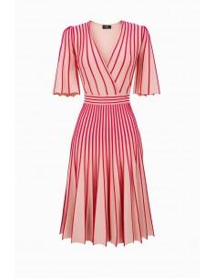 Elisabetta Franchi vestido de malha com debrum contrastante - comprar online