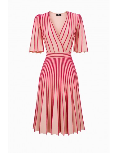 Elisabetta Franchi knitted dress with contrasting piping - buy online