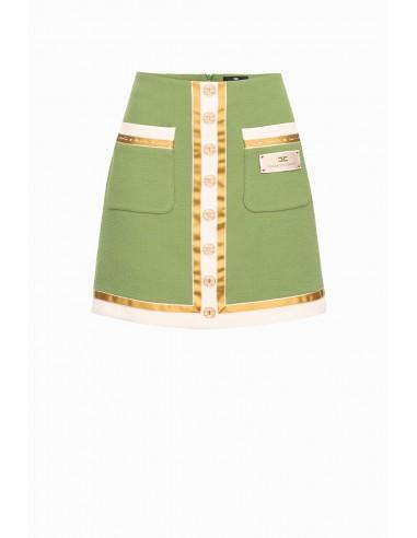 Elisabetta Franchi Trapeze mini spódniczka z kieszeniami - kup online - GO30297E2