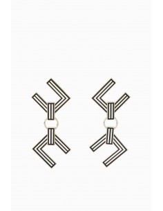 Elisabetta Franchi pendant earrings with logo - buy online - OR3MC97E2