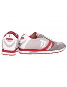Sneaker in Grau/Rot - Trussardi