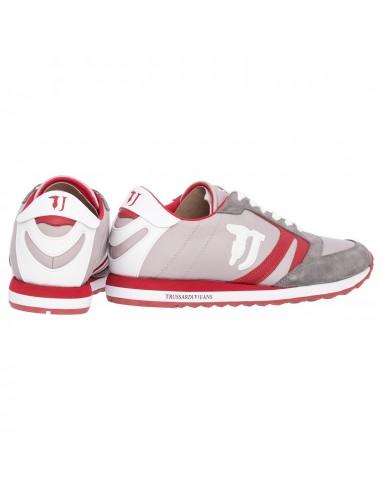 Sneaker in grijs / rood - Trussardi