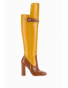 Elisabetta Franchi bottes en cuir avec logo - achat en ligne - SA29B97E2