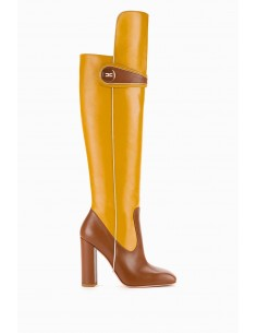 Elisabetta Franchi leather boots with logo - buy online - SA29B97E2