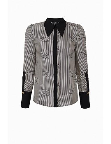 Camisa Elisabetta Franchi com impressão óptica - loja online - CA23197E2