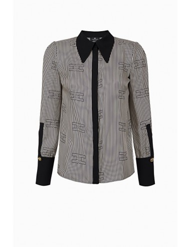 Elisabetta Franchi Shirt met optische print - online shop - CA23197E2