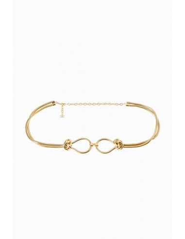 Elisabetta Franchi Gold metal belt - shop online - CT74D97E2