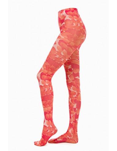 Meias Elisabetta Franchi com estampa de flores - loja online - CZ04M97E2