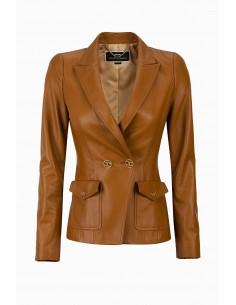 Elisabetta Franchi Veste en cuir - boutique en ligne - GD07P96E2