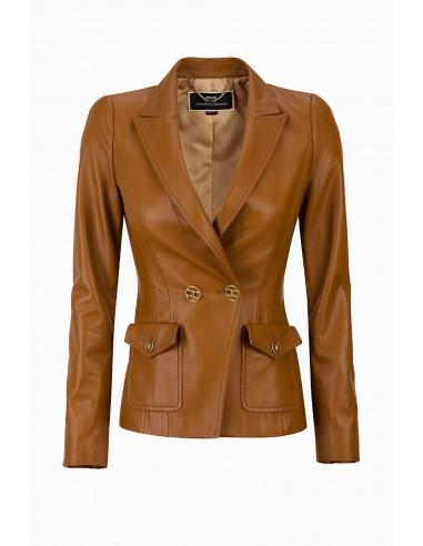 Elisabetta Franchi Leather jacket - shop online - GD07P96E2