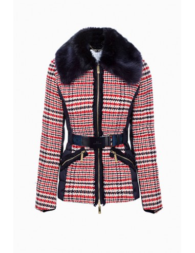 Elisabetta Franchi Padded jacket with belt - shop online - GI06H96E2