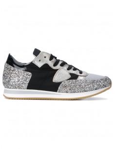 Philippe Modelo Sneaker Negro con brillo