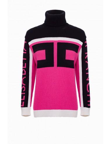 Elisabetta Franchi Sweater with Logo - shop online - MK85L97E2