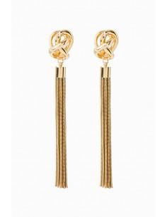 Elisabetta Franchi Hängende Ohrringe mit Fransen - Online-Shop - OR17D97E2