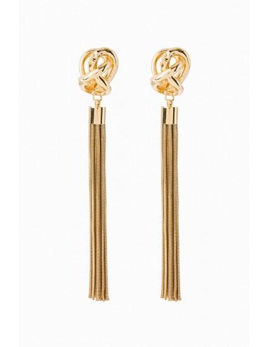 Elisabetta Franchi Boucles d'oreilles suspendues avec franges - boutique en ligne - OR17D97E2