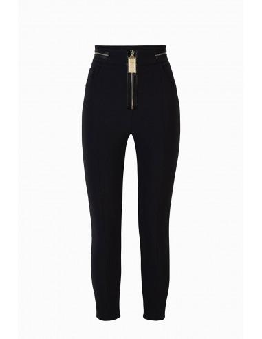Elisabetta Franchi Skinny pants with zipper - shop online - PA32896E2