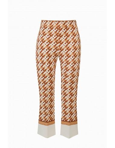 Elisabetta Franchi Gedrukte broek met logo - online winkelen - PA33196E2