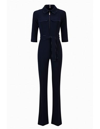 Elisabetta Franchi Jumpsuit with sash and zipper - shop online - TU19196E2