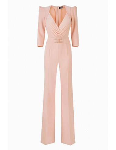Elisabetta Franchi Jumpsuit with sleeve openings - shop online - TU20296E2