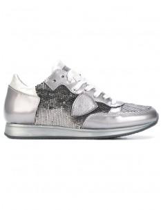 Philippe Model Sneaker Silber mit Plättchen