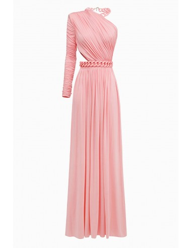 Elisabetta Franchi Long dress with chains - altamoda.shop - AB11598E2