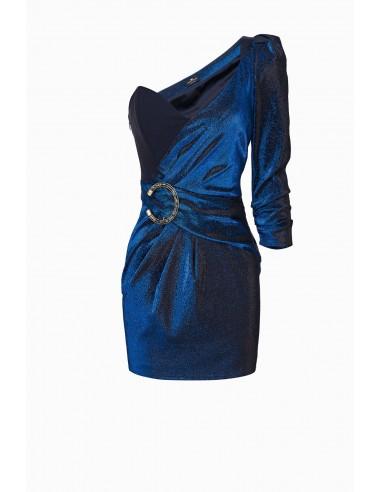 Elisabetta Franchi Short dress with one shoulder uncovered - altamoda.shop - AB94197E2