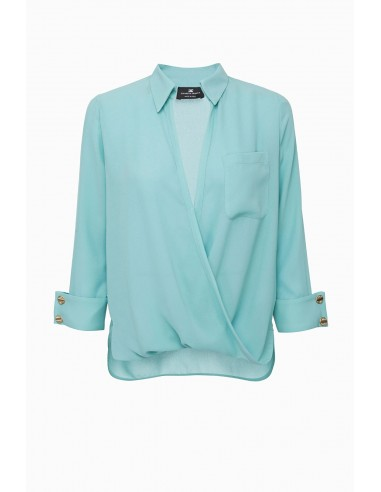 Elisabetta Franchi Asymmetrical blouse - altamoda.shop - CA23897E2
