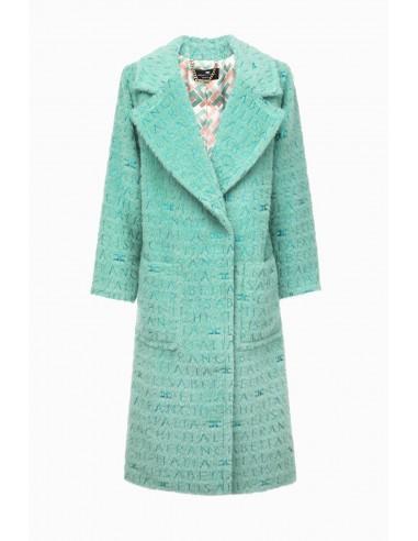 Manteau Elisabetta Franchi en laine longue - altamoda.shop - CP03297E2