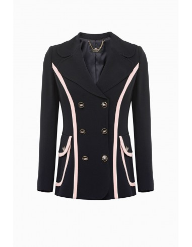 Elisabetta Franchi jacket with contrasting trim - altamoda.shop - GI16897E2