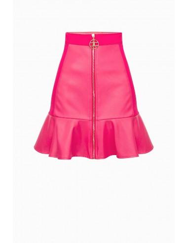 Elisabetta Franchi Leatherette mini skirt - altamoda.shop - GO31897E2