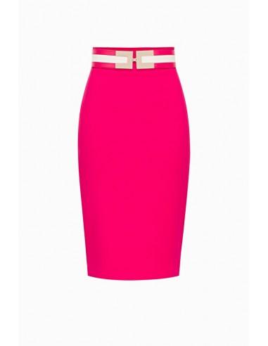Elisabetta Franchi Tight skirt with belt - altamoda.shop - GO32197E2