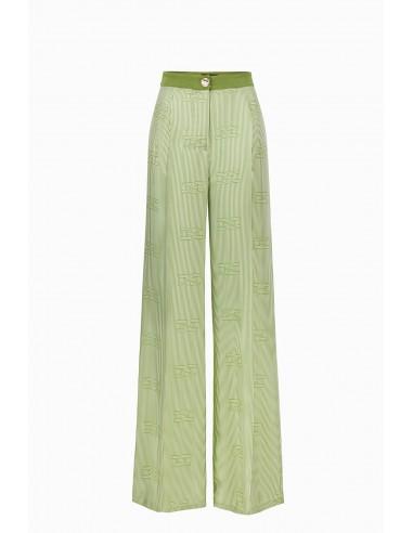 Elisabetta Franchi Palazzo trousers with optical print - altamoda.shop - PA03097E2